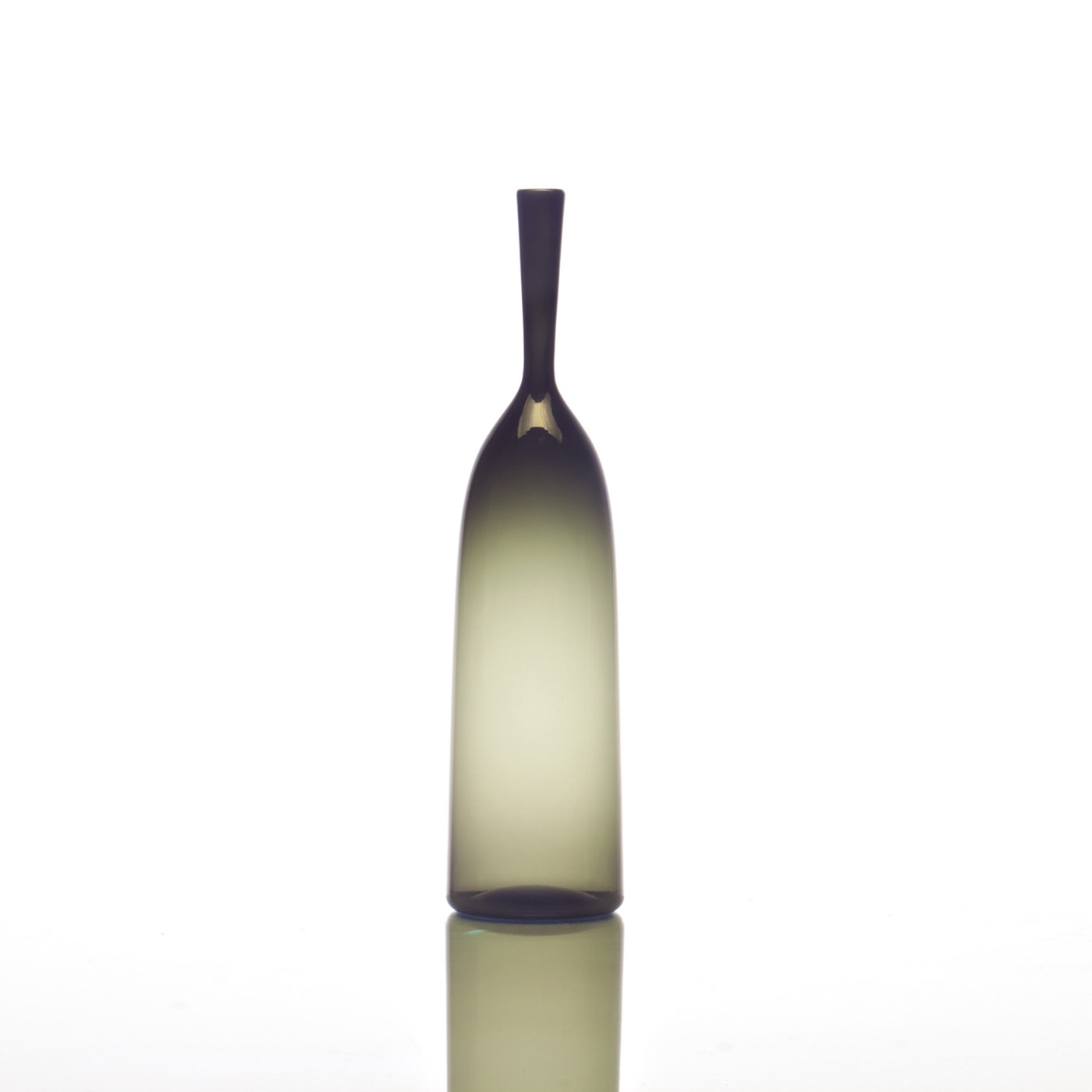 Hues Glass Bottle Vases   Grey