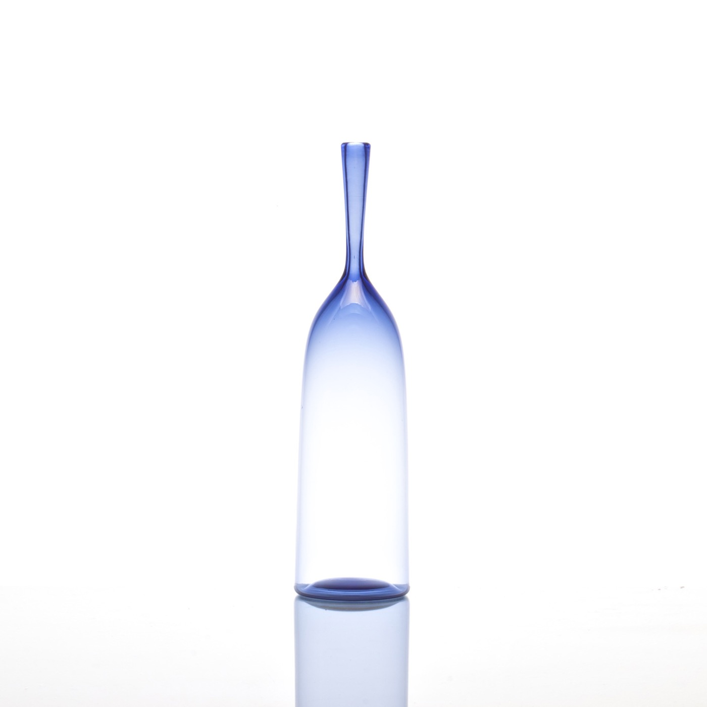 Hues Glass Bottle Vases | Sky
