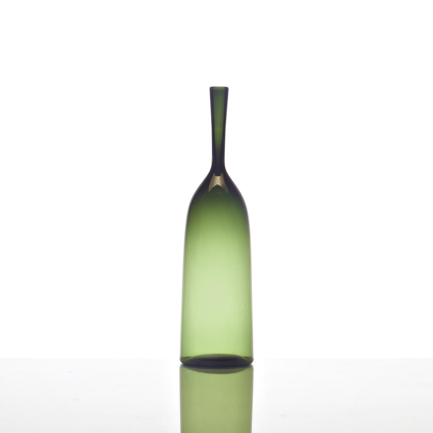 Hues Glass Bottle Vases   Fern
