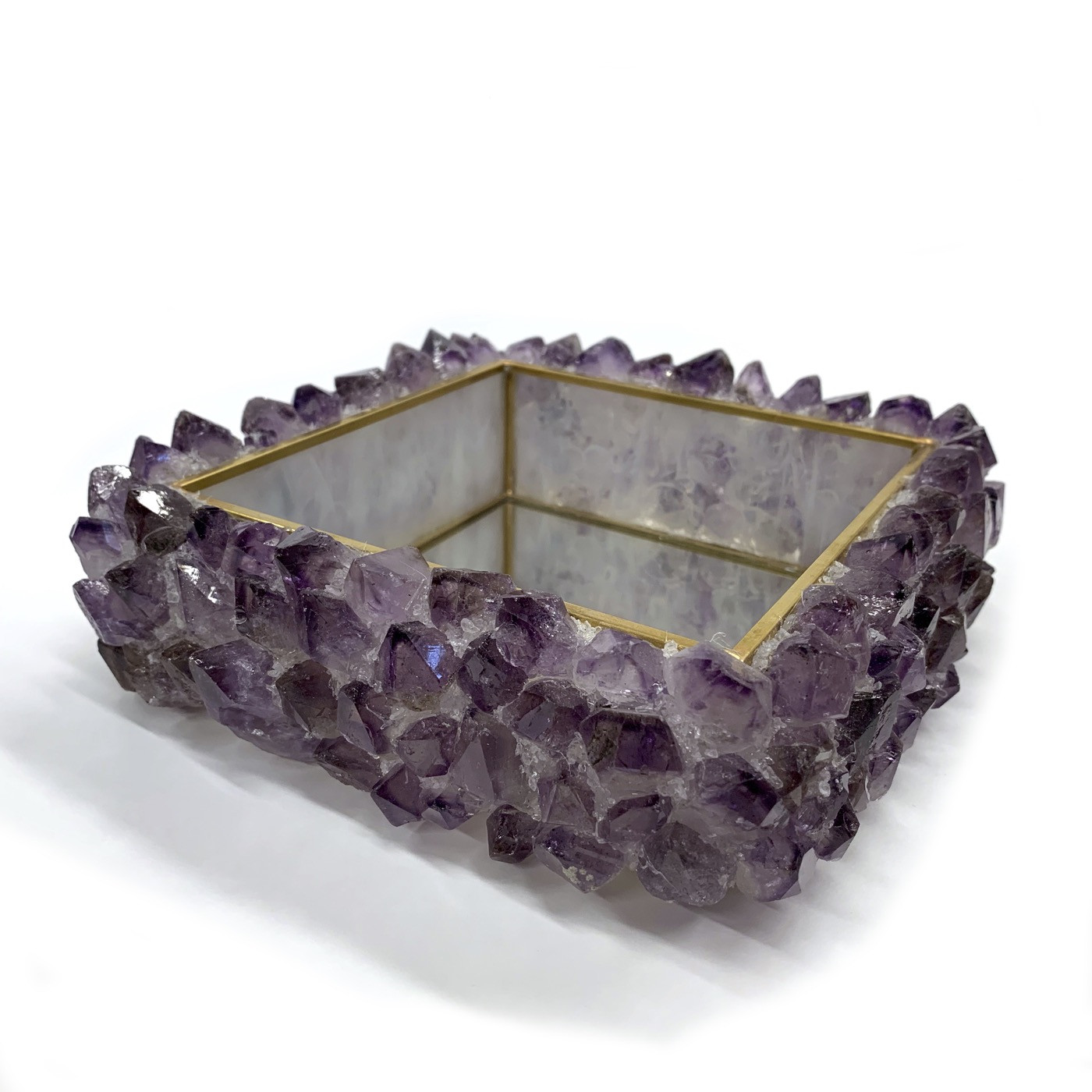 Maraba Mirrored Trays | Amethyst