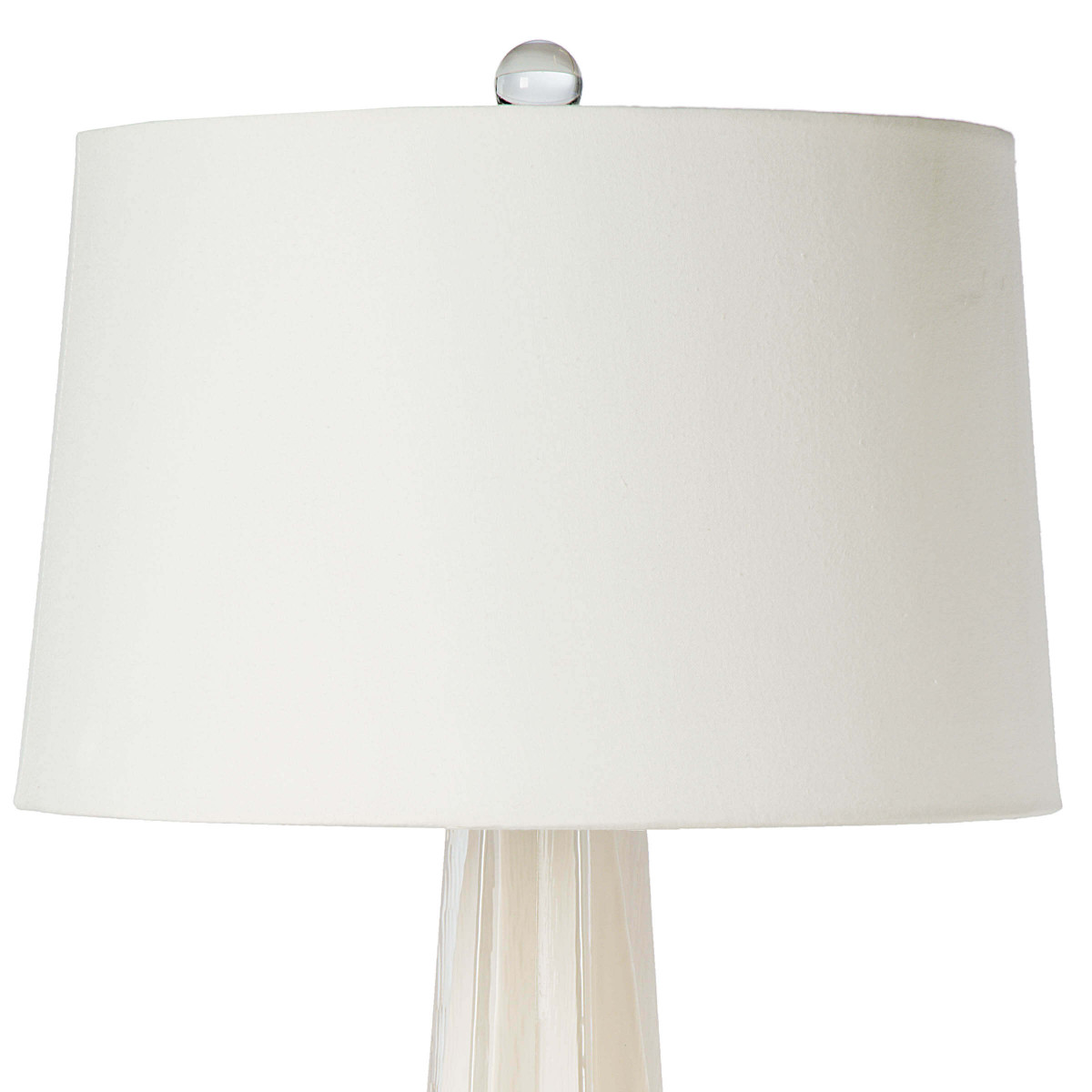 Comet Table Lamp | White Glass