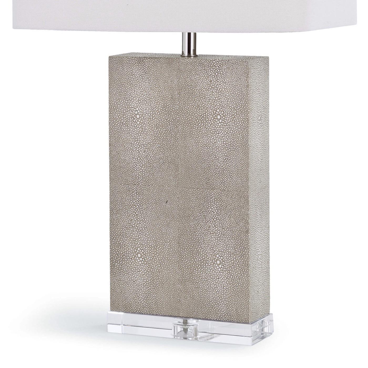 "Manta ""Shagreen"" Table Lamp | Taupe"