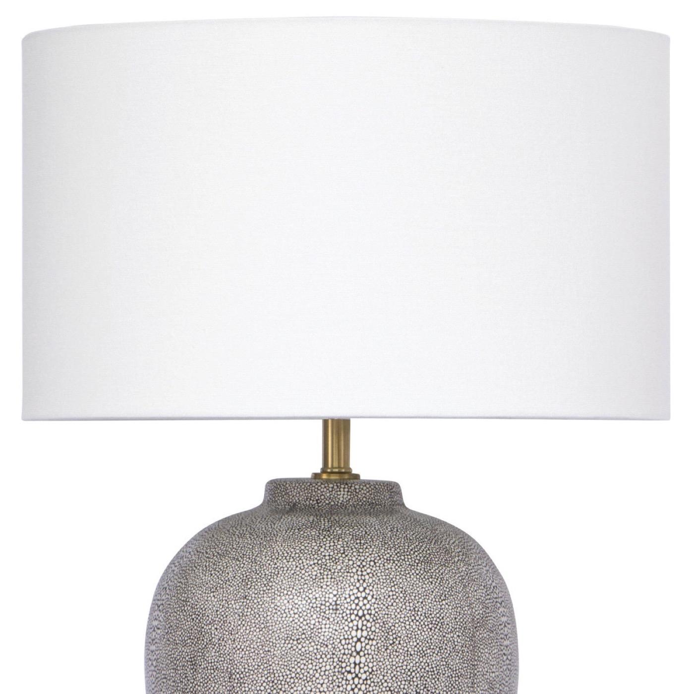 "Leeza ""Shagreen"" Table Lamp | Dark Blue"