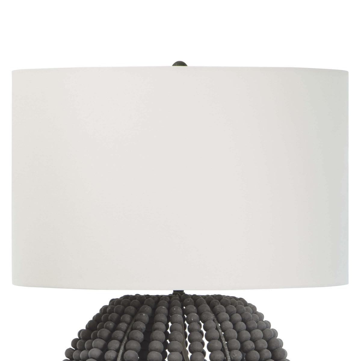 Tropez Wood Bead Lamp