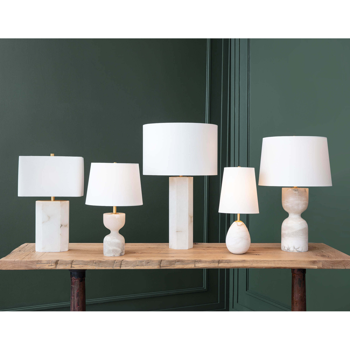 Gideon Tall Lamp | Alabaster