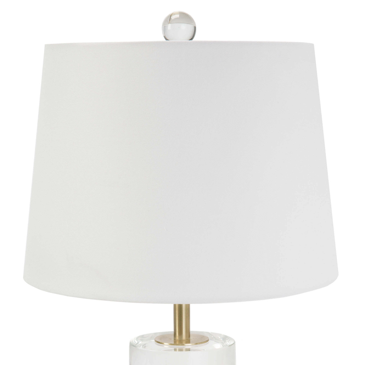 Gideon Short Lamp | Crystal