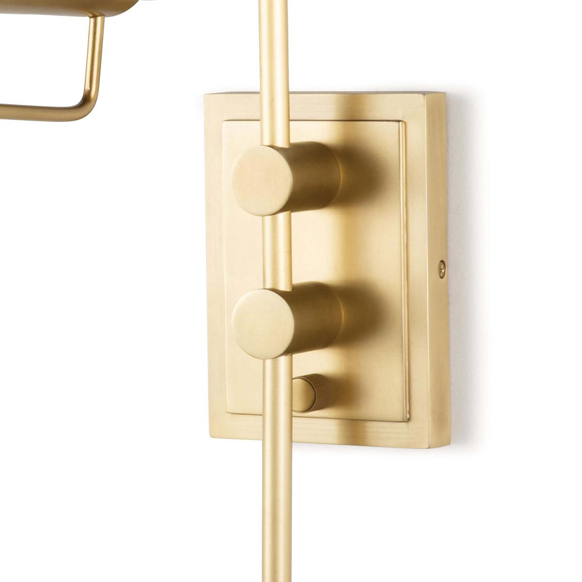 Zilker Adjustable Sconce | Brass