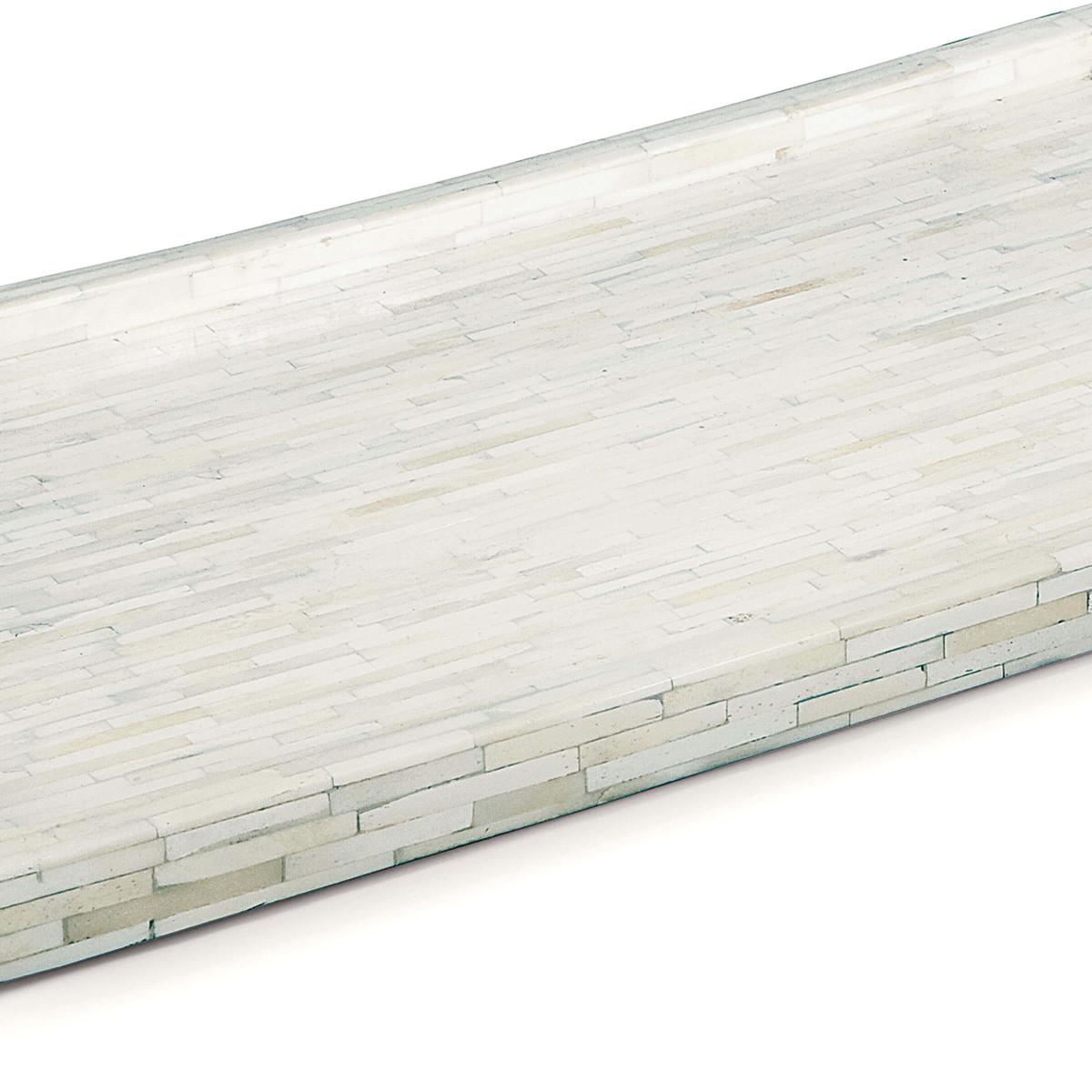 Ivoire Bone Tray   Nickel