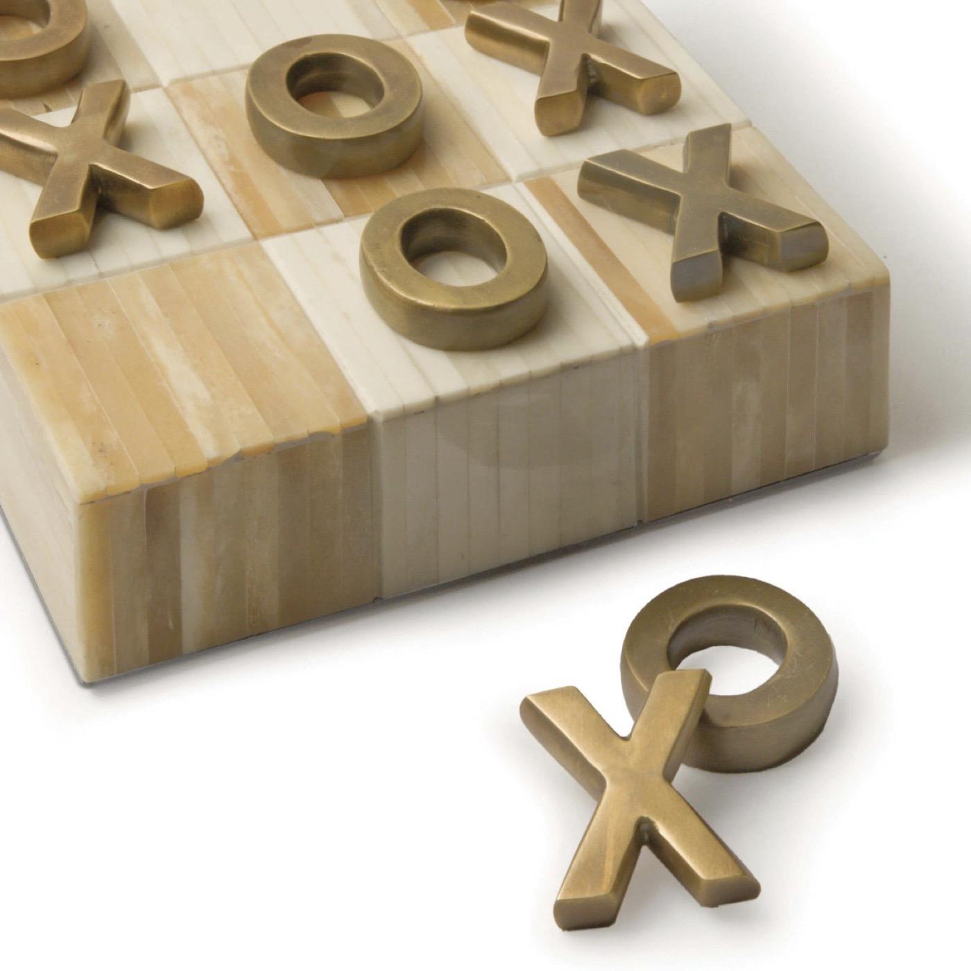 Tic-Tac-Toe Board   Brass