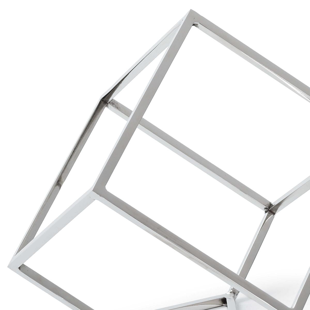 """Tilted Open """"Cube""""   Nickel"""