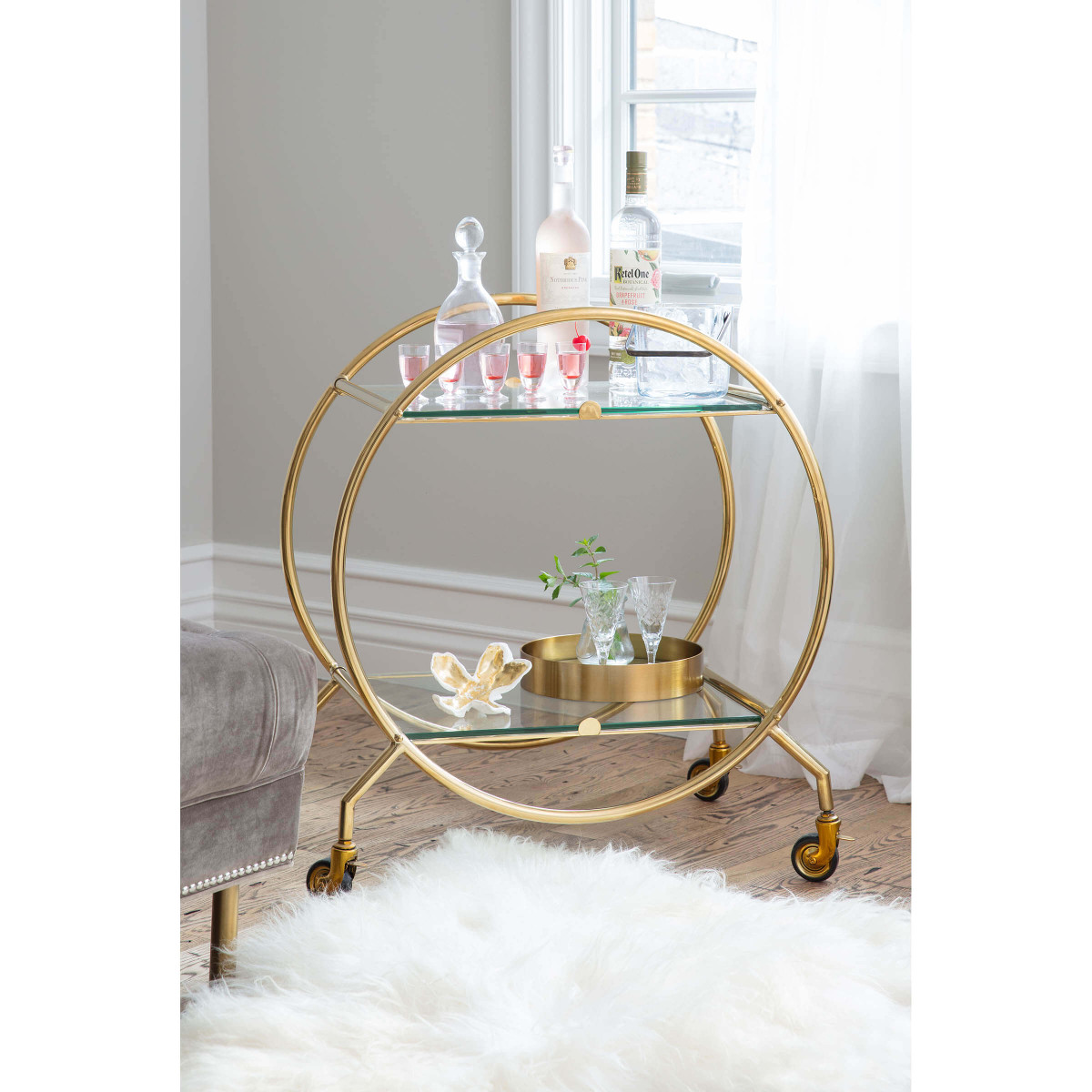 Ernesto Mirrored Trays Set | Brass