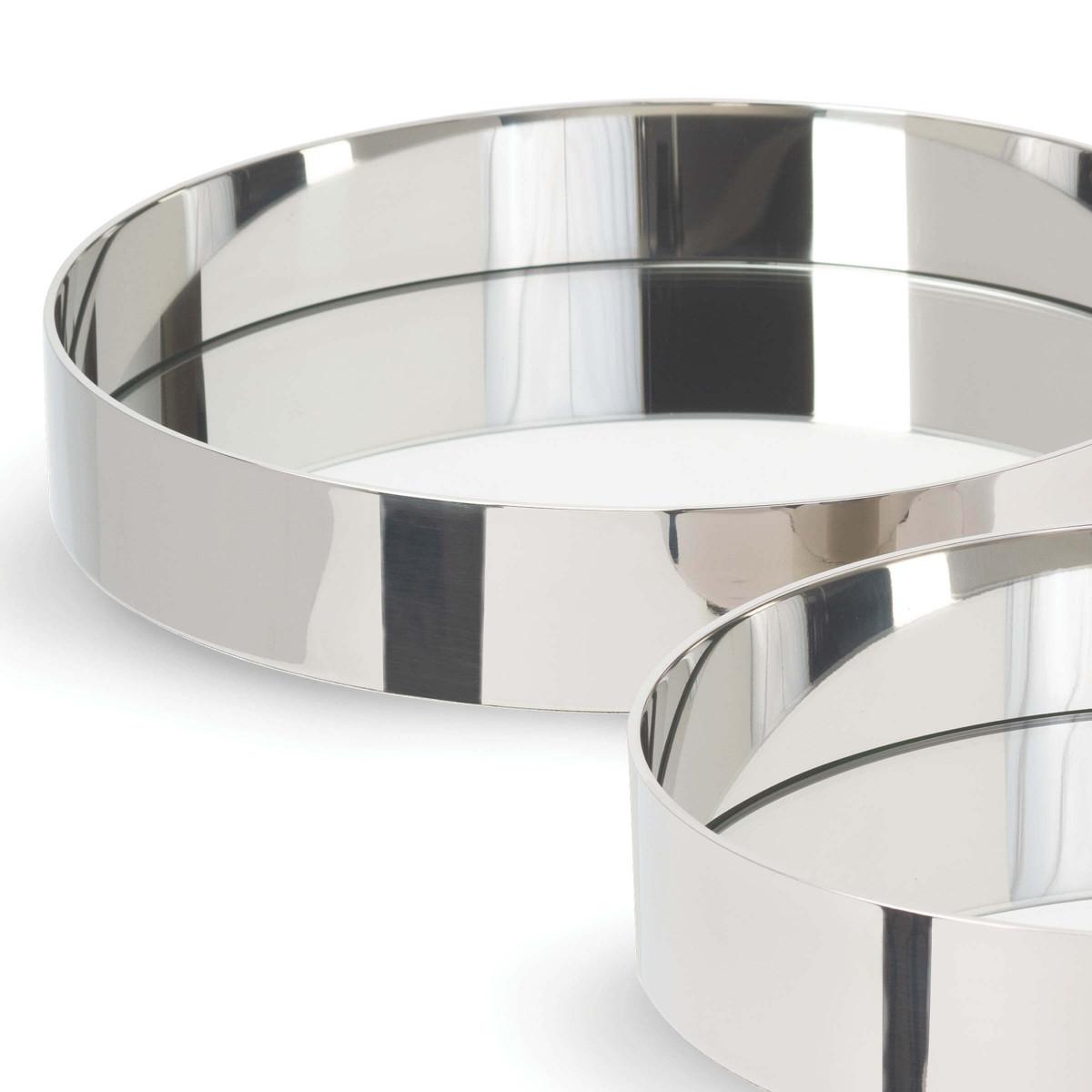 Ernesto Mirrored Trays Set | Nickel
