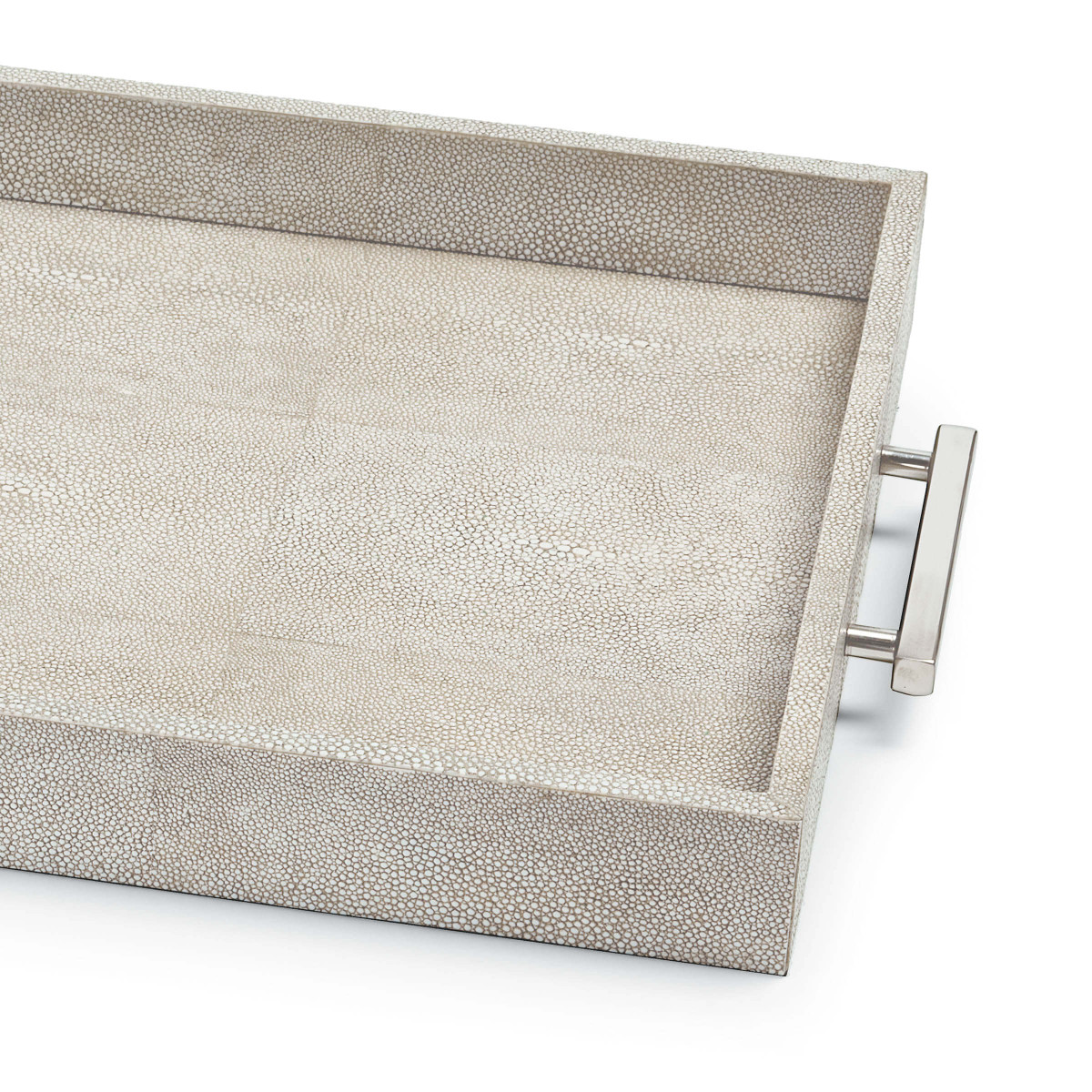 """Rocco """"Shagreen"""" Tray   Taupe"""