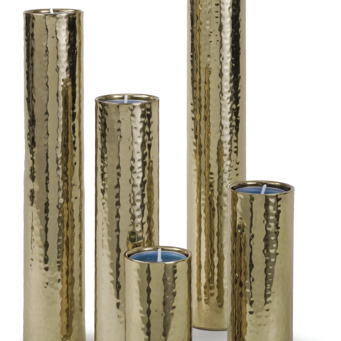 Duro Hammered Bud Vase Set | Brass