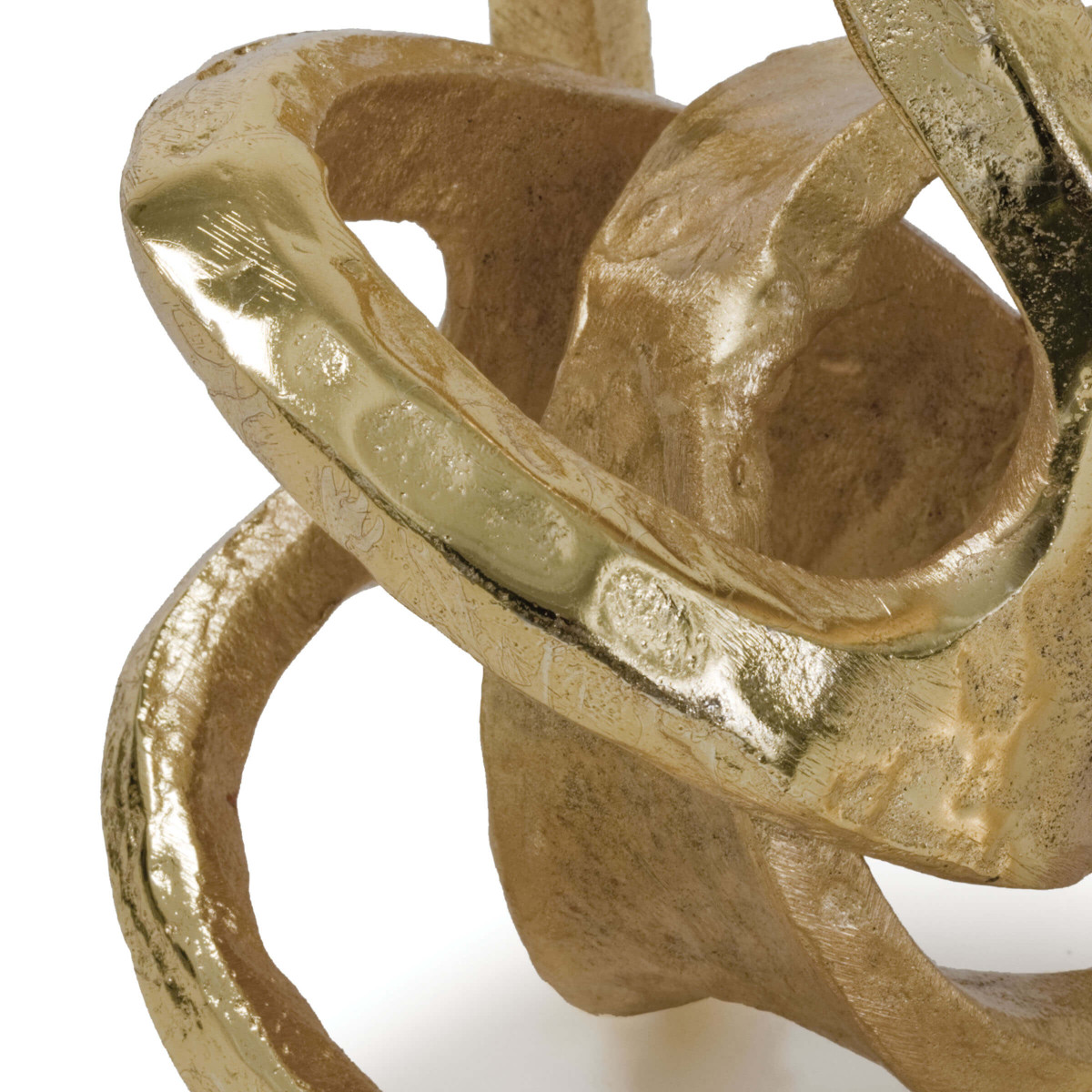 Twisted Sphere Object | Gold