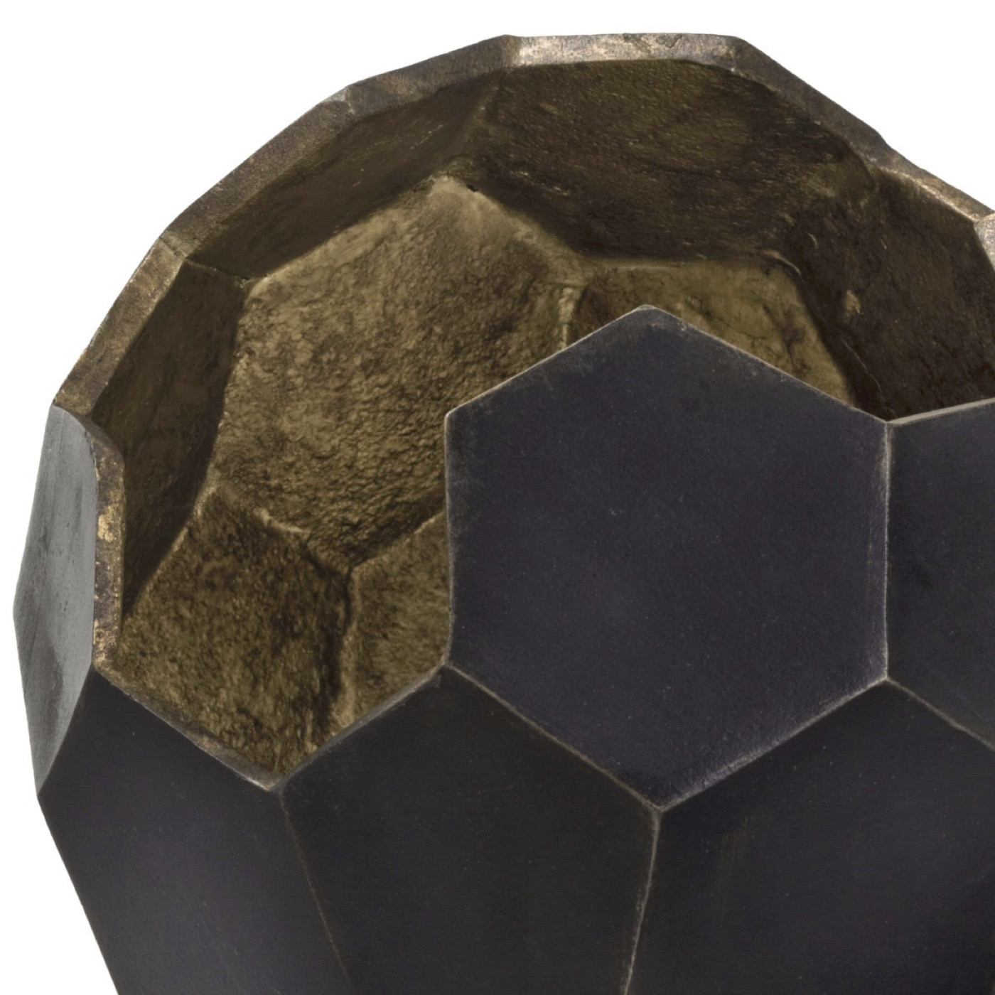 Pluto Polyhedron Metal Vase