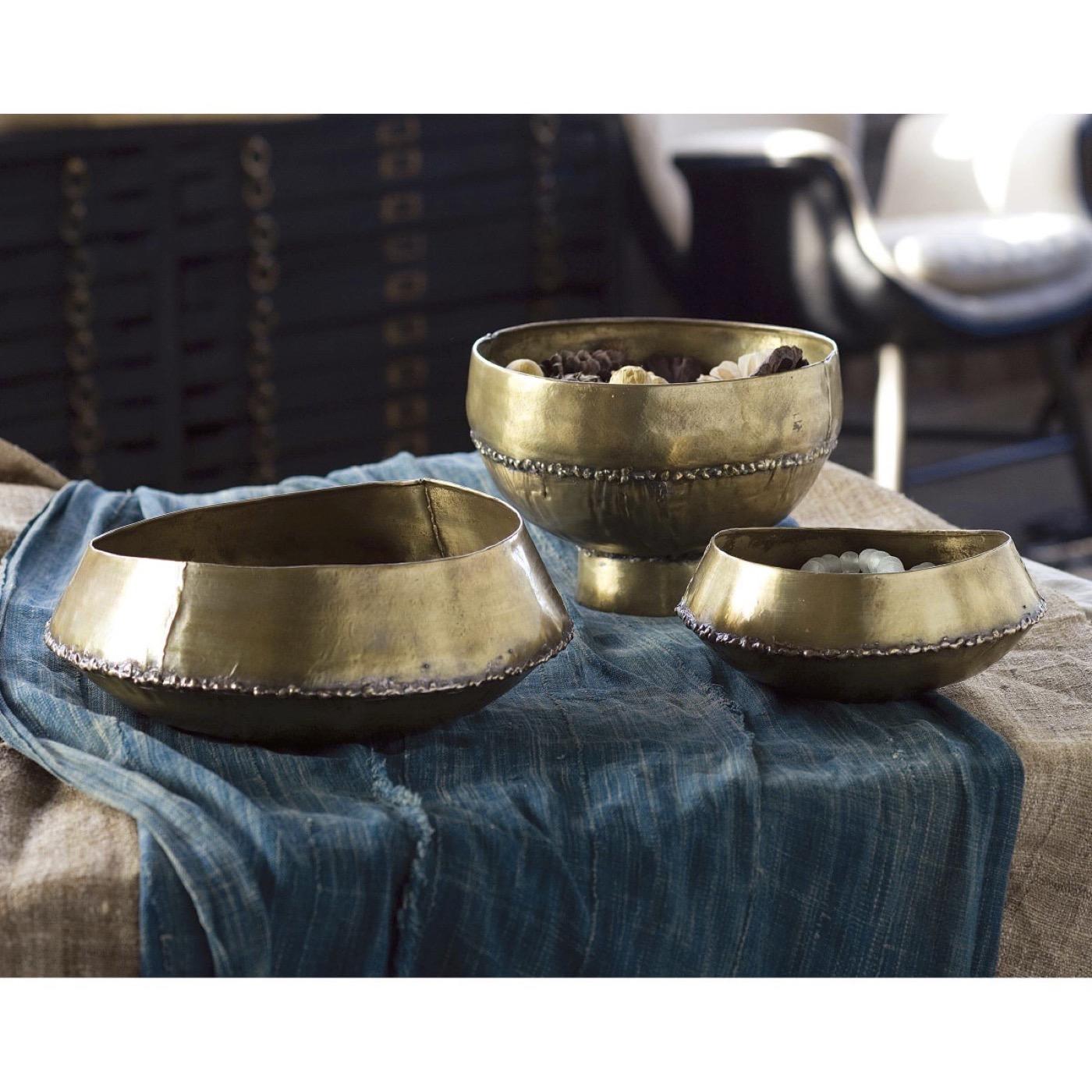 Godfrey Brass Bowl | Pedestal