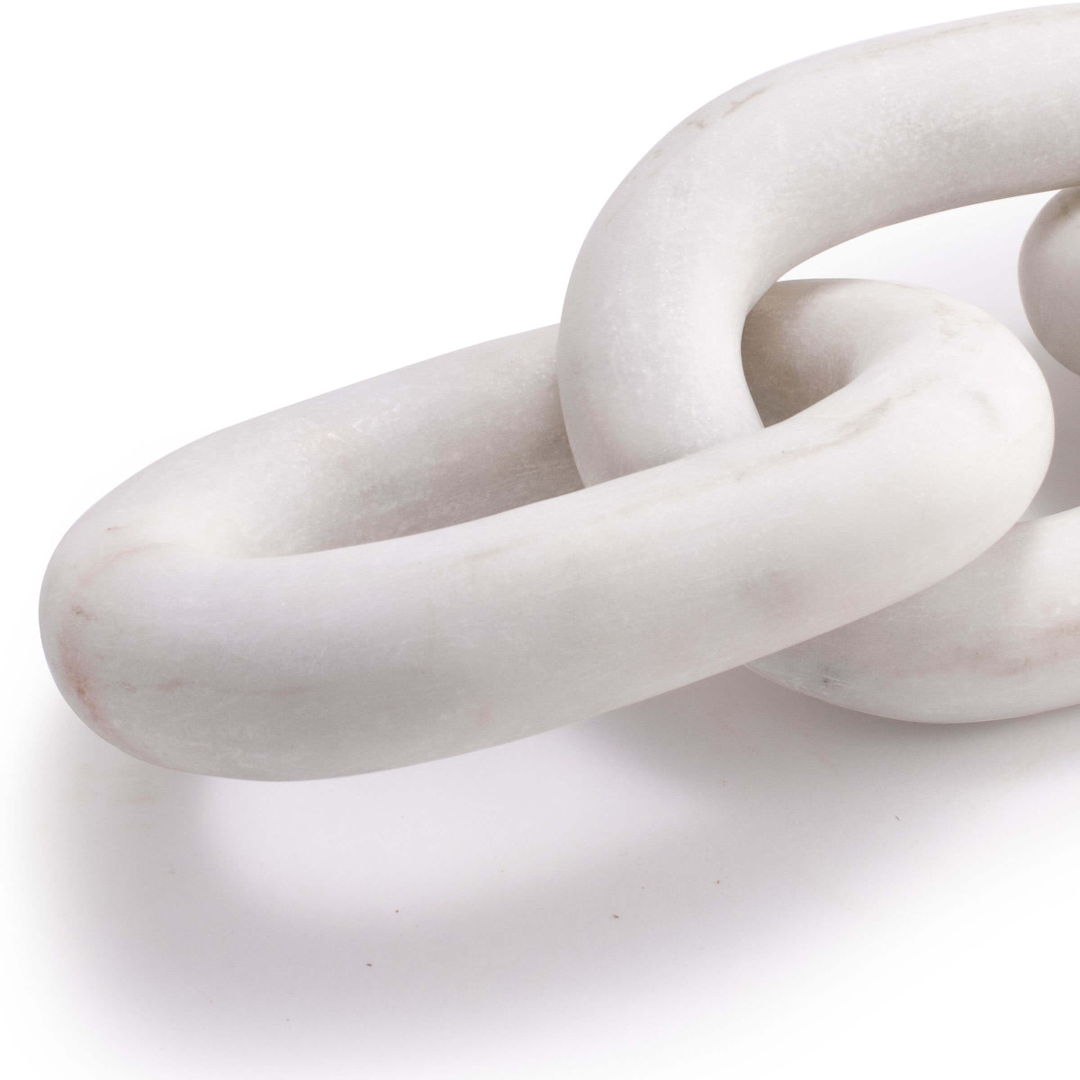 Paco Marble Chain Sculpture | White