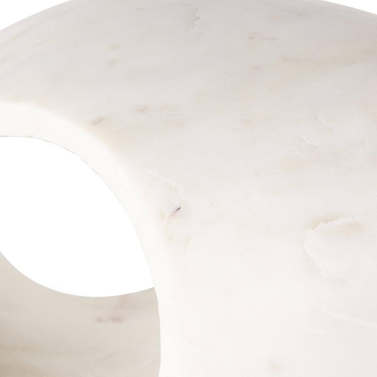 Julian Short Marble Object | White