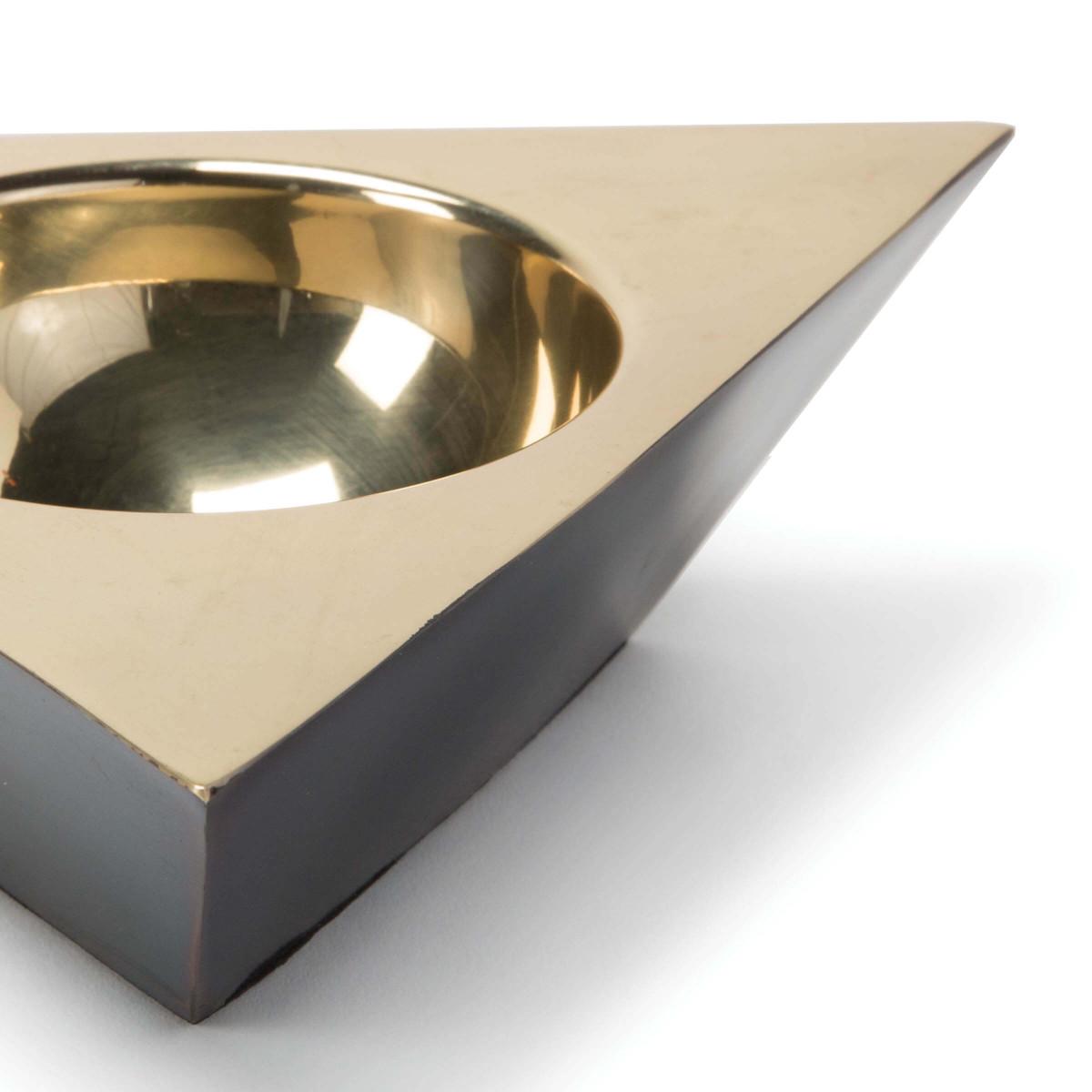 Anko Brass Bowl | Triangular