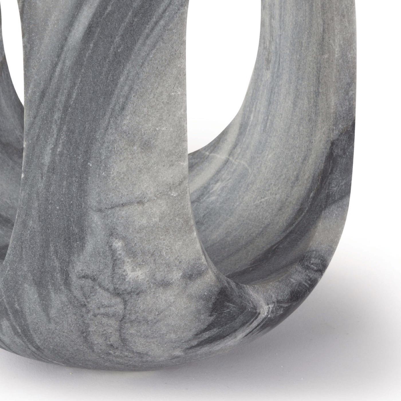Julian Tall Marble Object | Black
