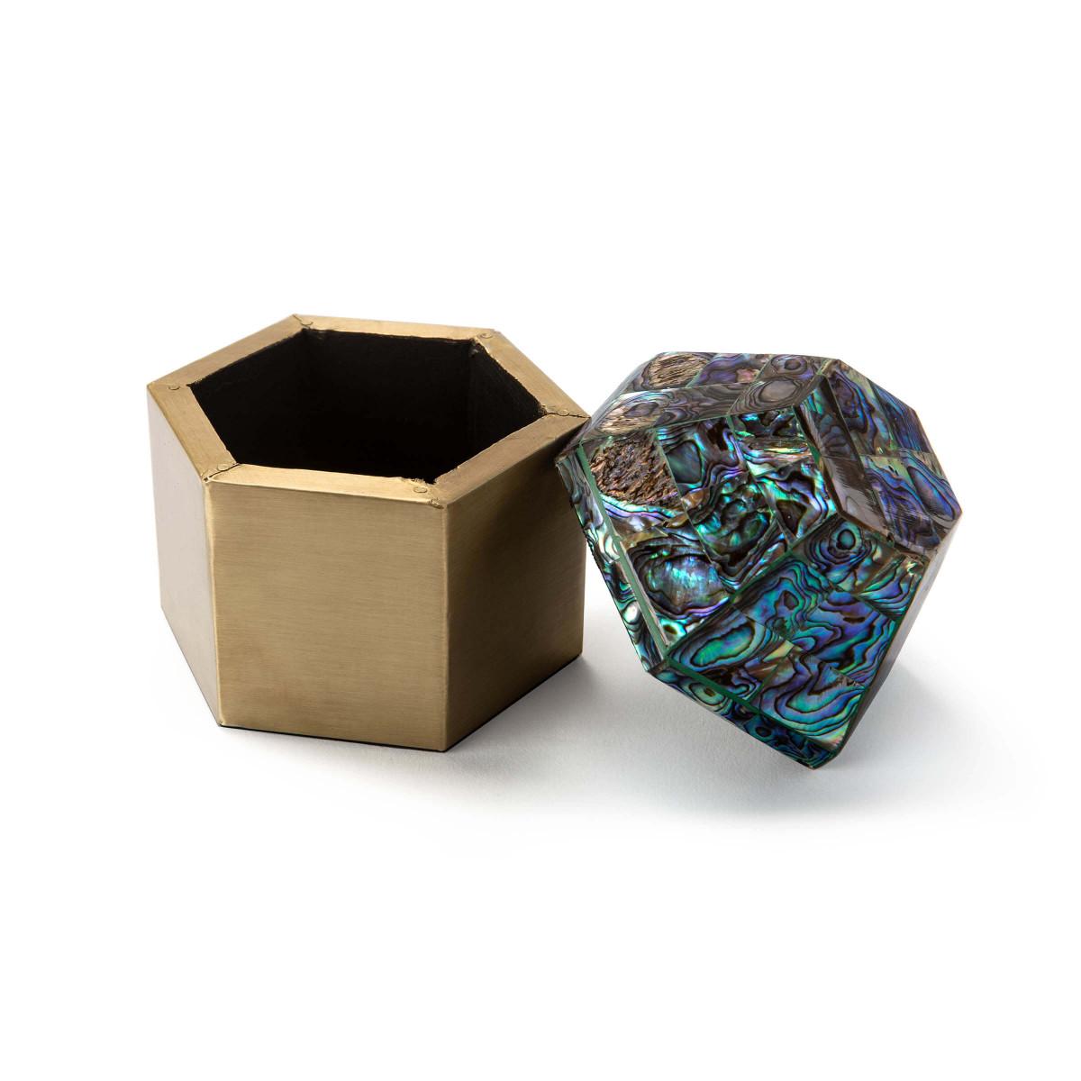 Charlotte Brass Box | Abalone
