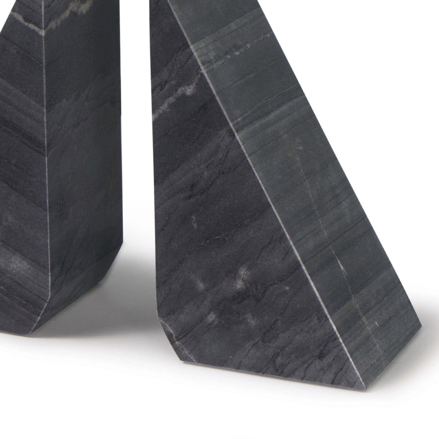 Othello Marble Bookends | Black