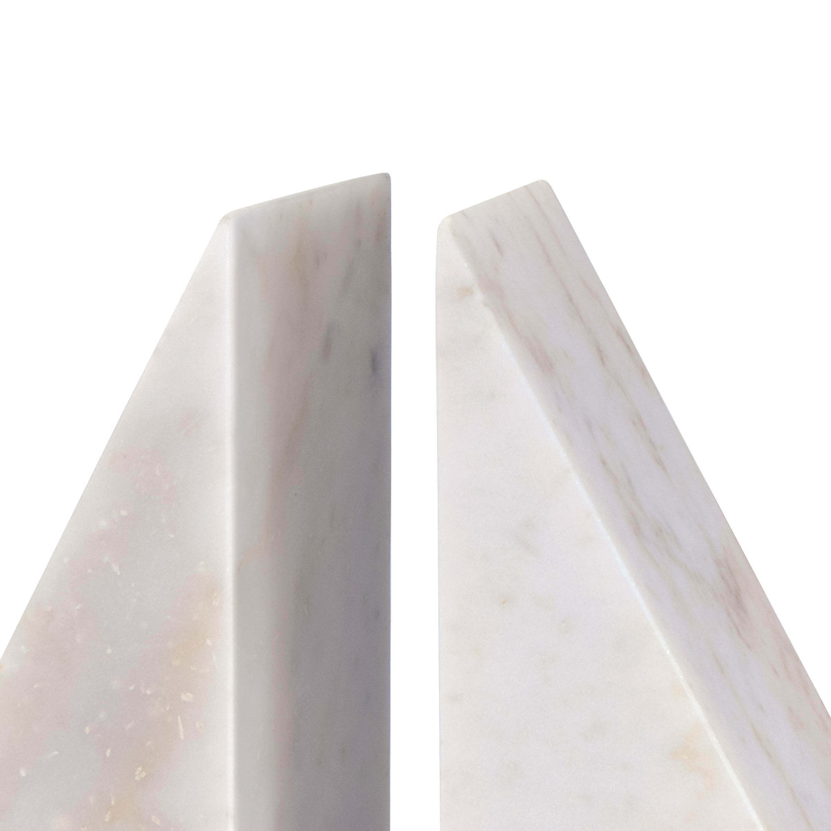 Othello Marble Bookends | White