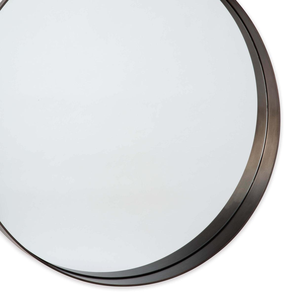 Gunner Round Mirror | Steel