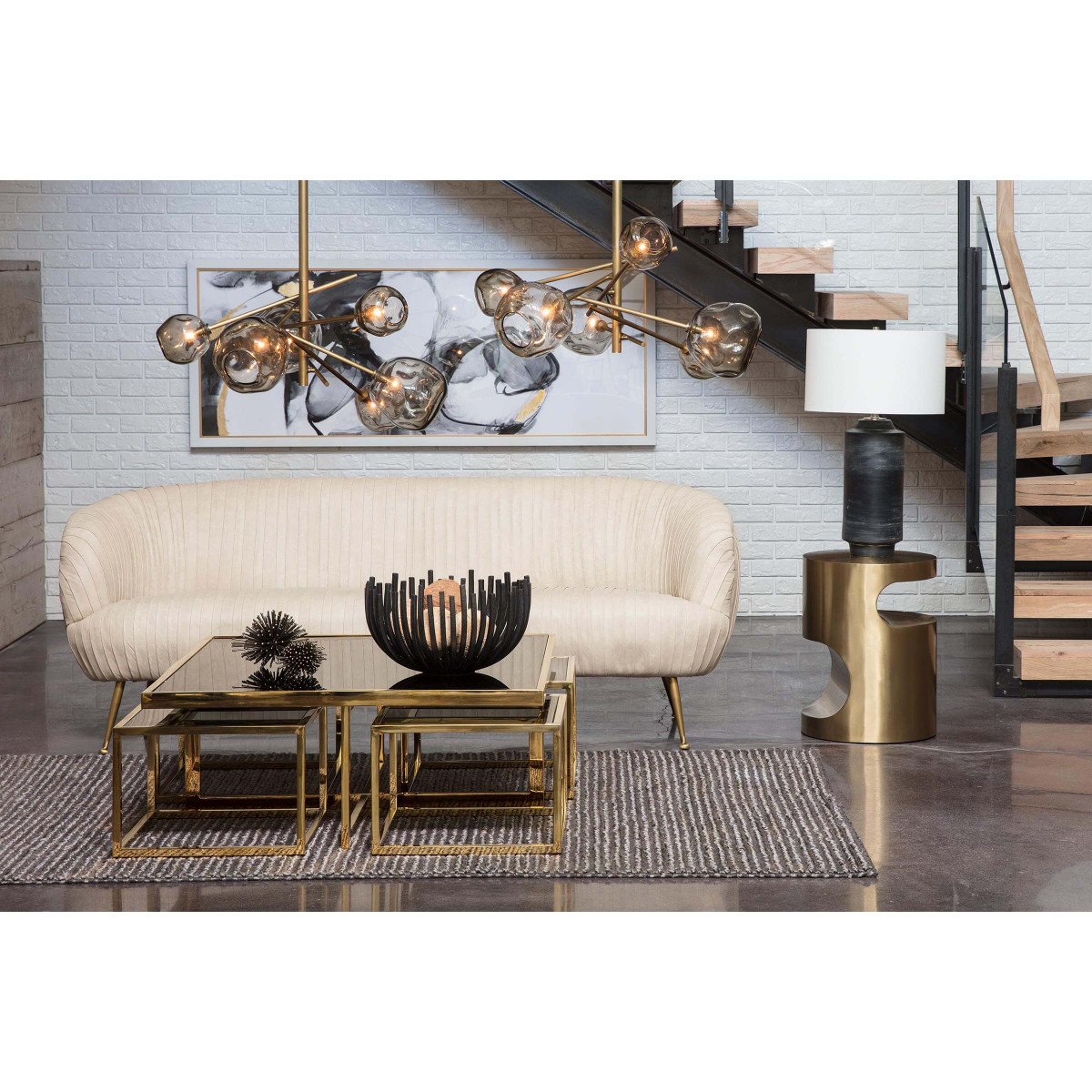 Nathan Brass Side Table