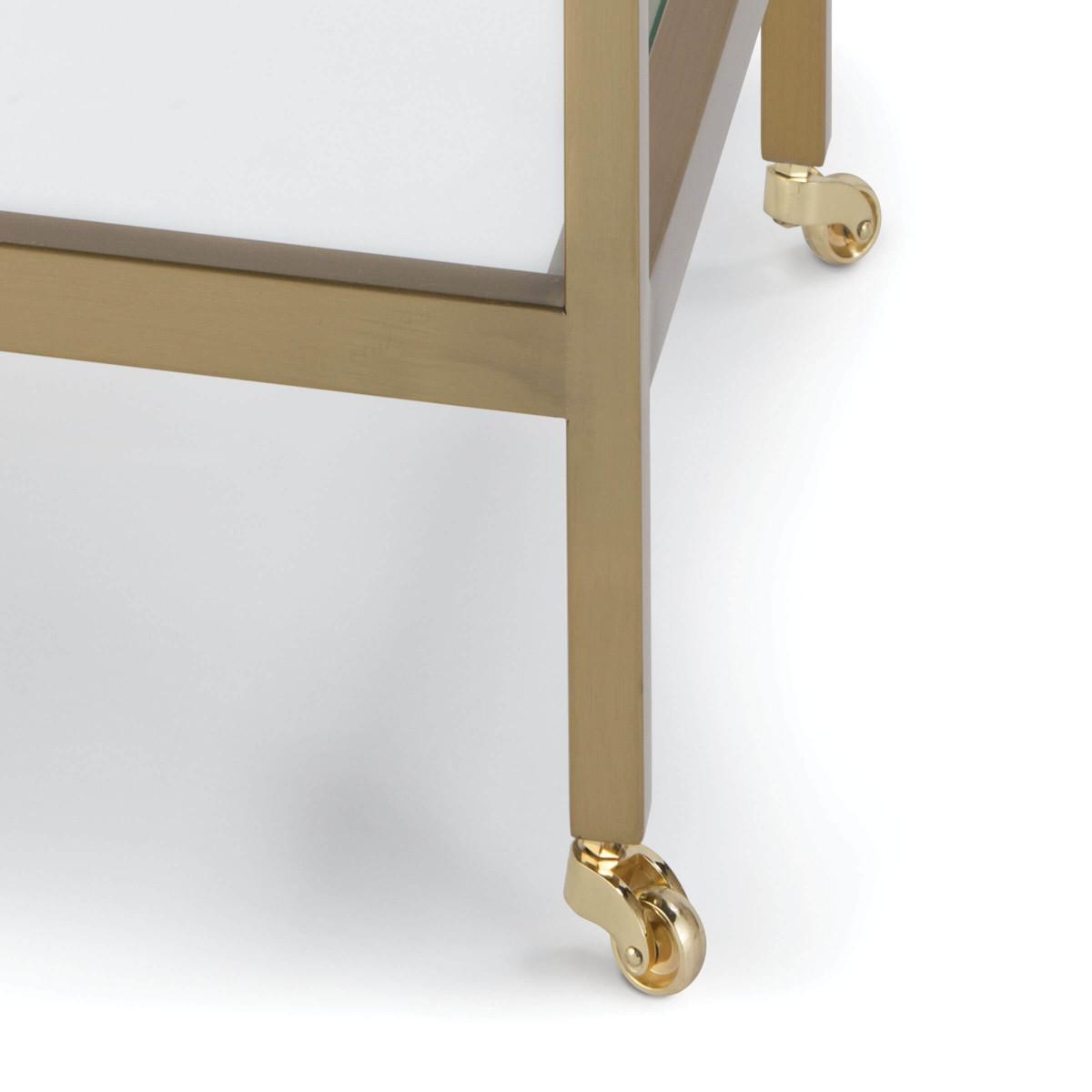 Troy Side Table | Brass