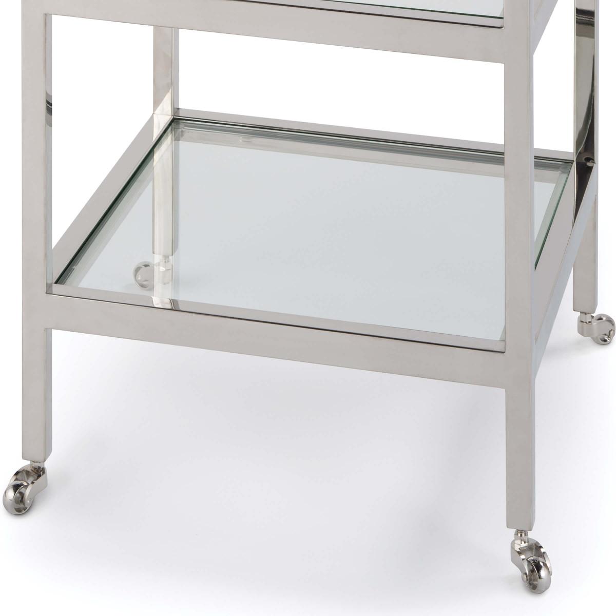 Troy Side Table | Nickel