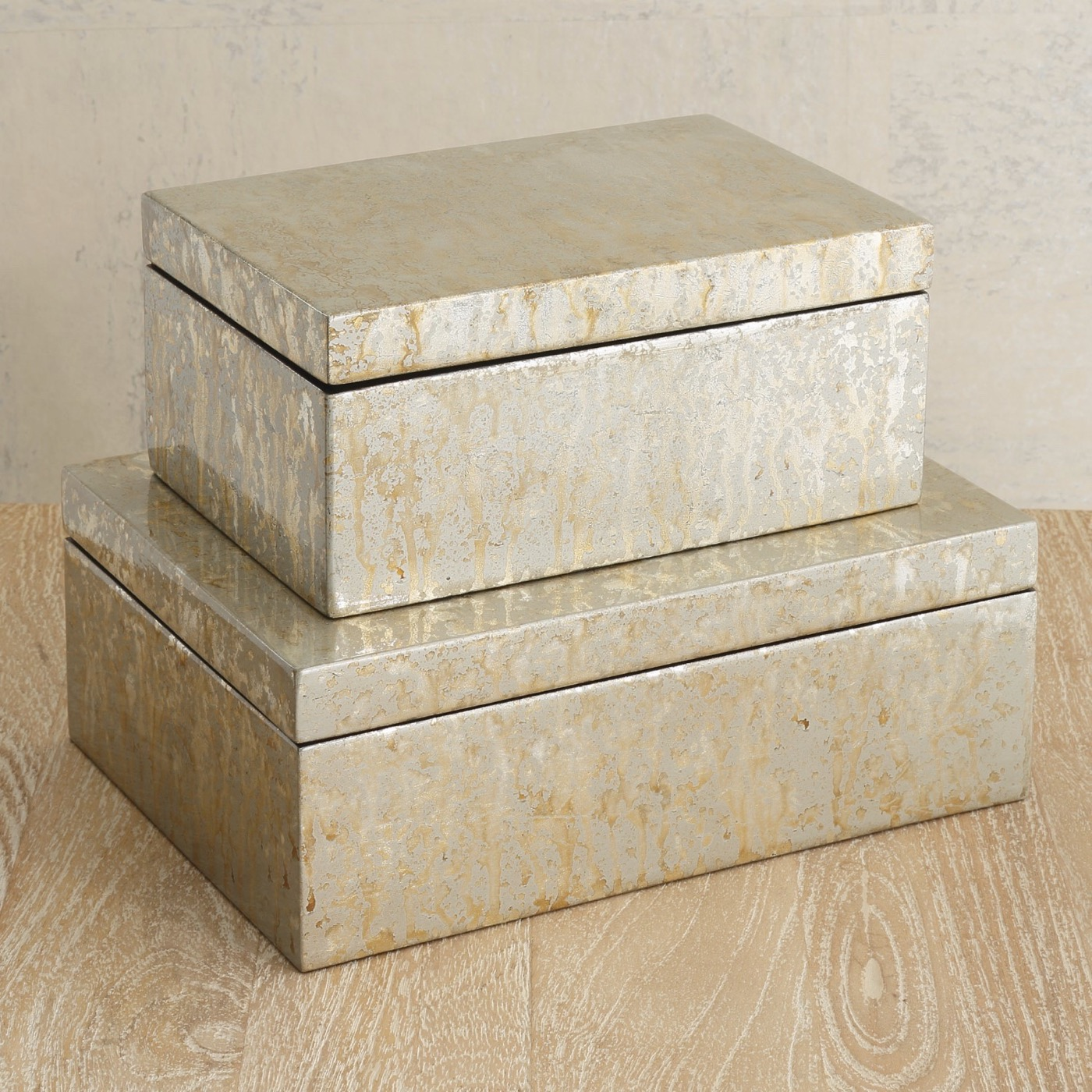Yen Lacquered Boxes | Silver Leaf