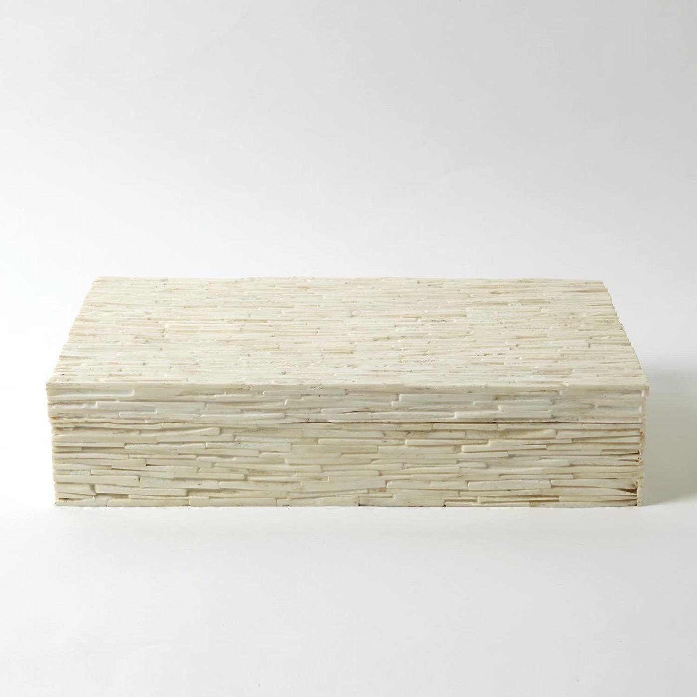 Neville Chiseled Bone Boxes | Natural