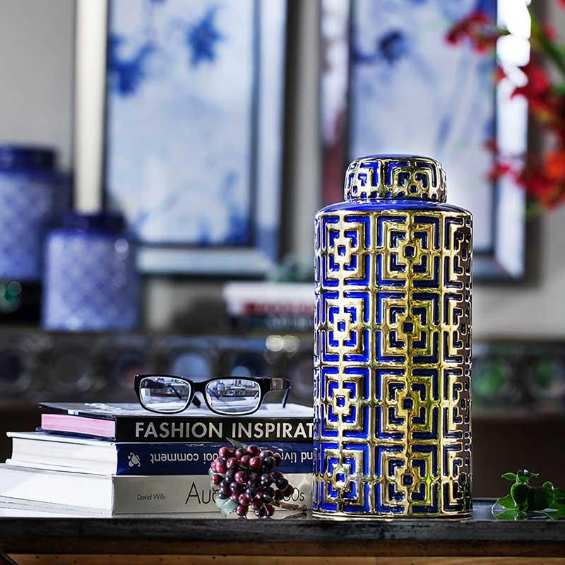 Risha Lidded Ceramic Jar