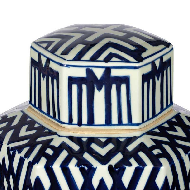 Louisa Porcelain Jar   Hexagonal