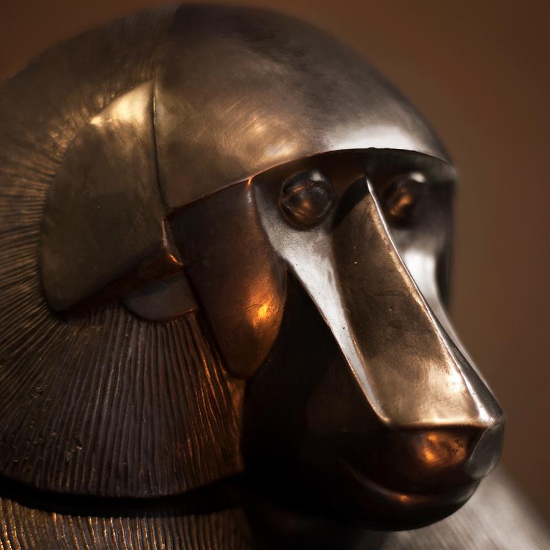 Midas Bronze Monkey Lamp