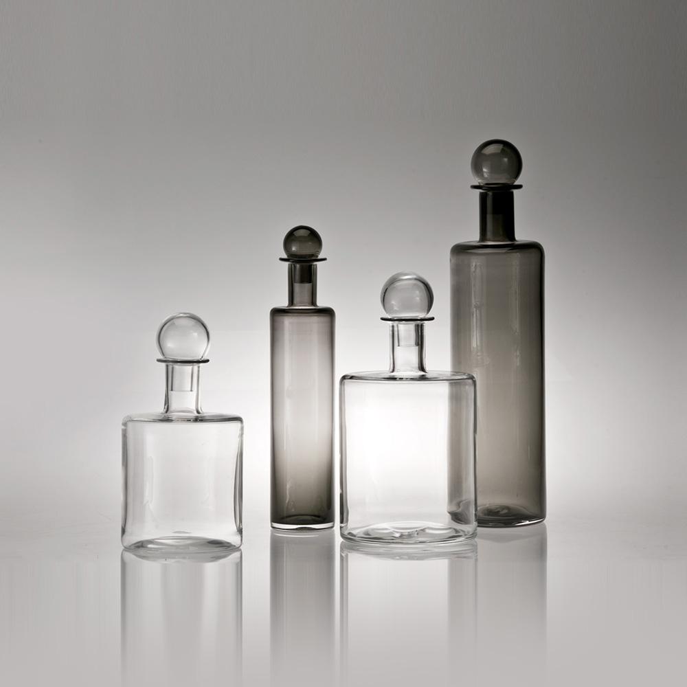 Shiva Glass Bottles | Grey