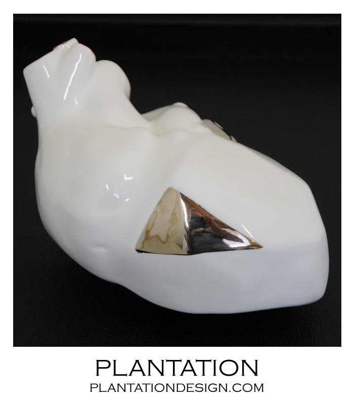 Amore Porcelain Heart | Platinum