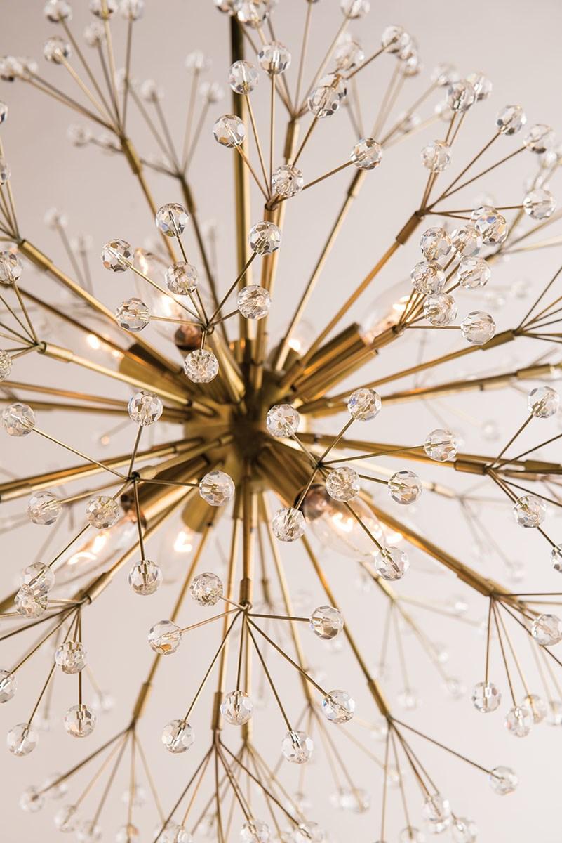 Dandelion Chandelier | Antique Brass