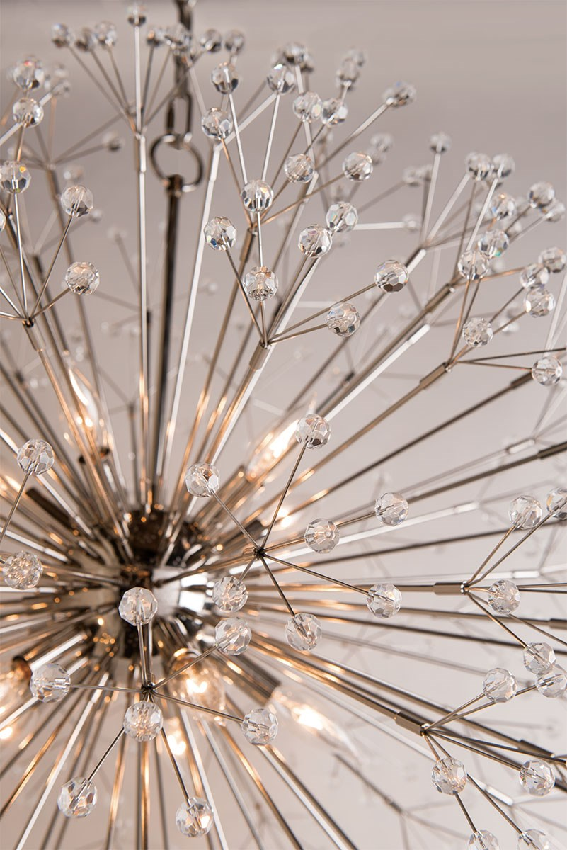 Dandelion Chandelier | Polished Nickel