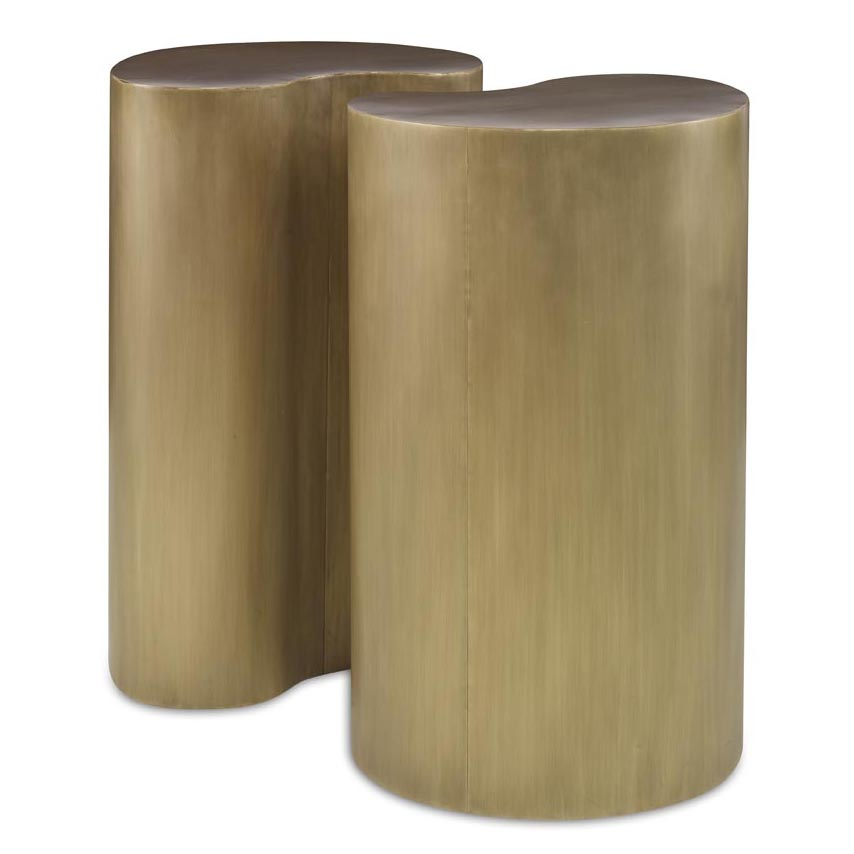 Figaro Side Table Set | Aged Brass