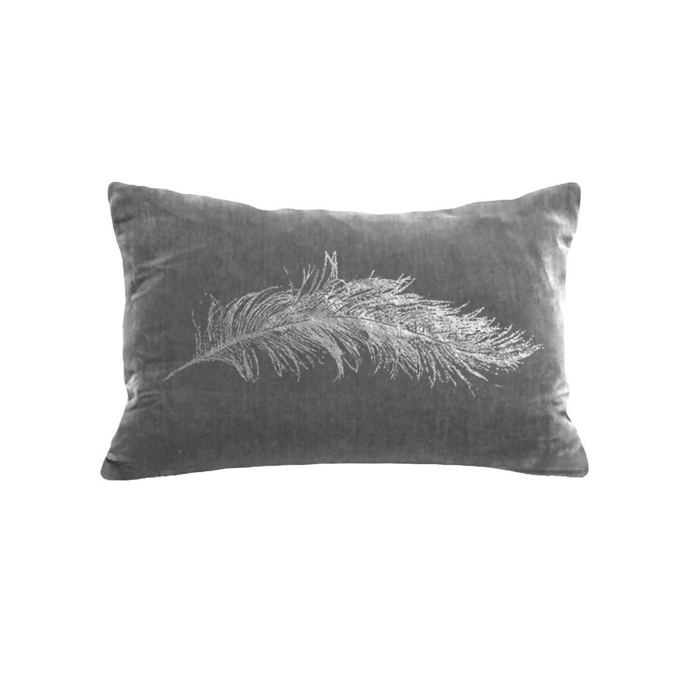 Reiki Velvet Pillows | Metallic Feather