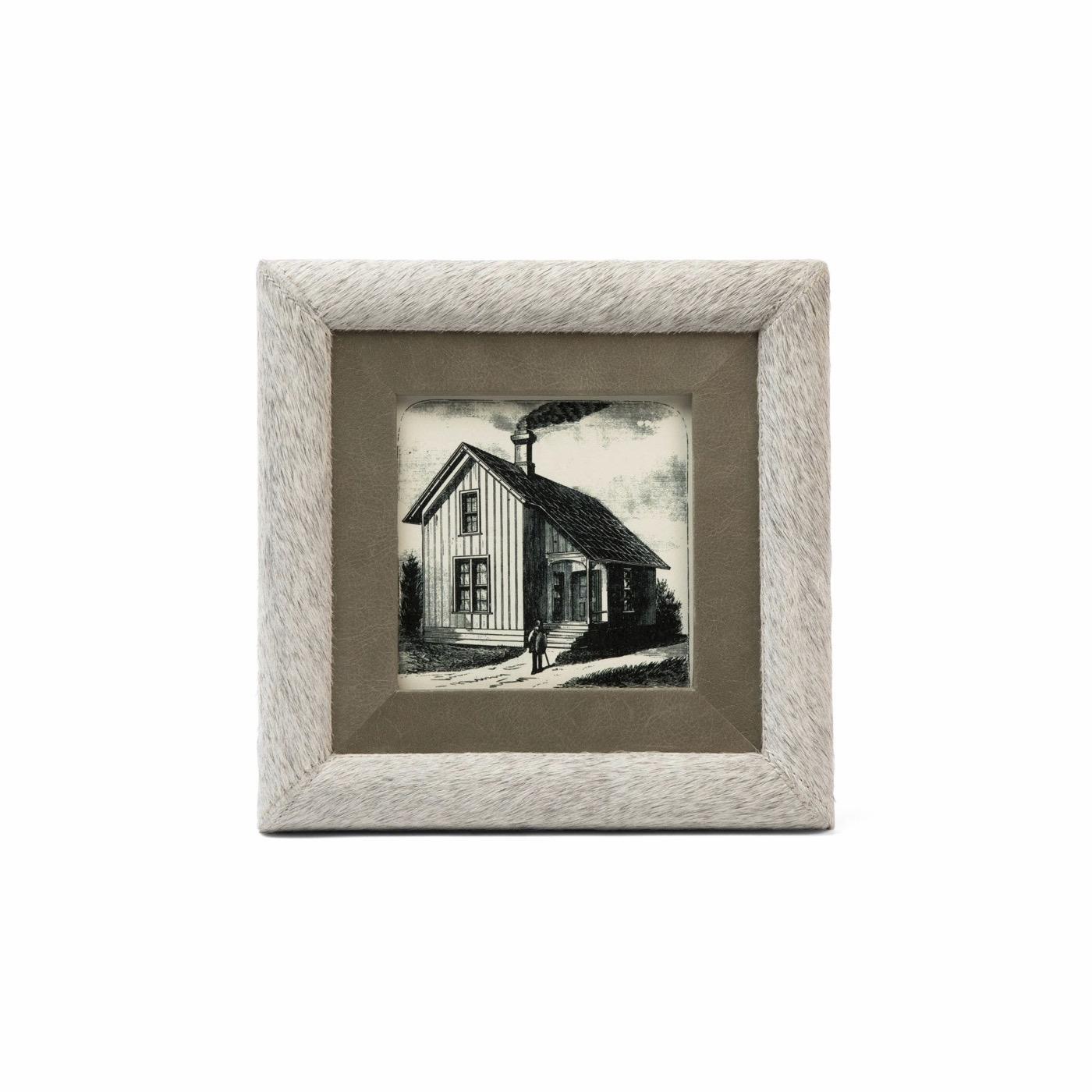 Farmington Cowhide & Leather Frames   Grey