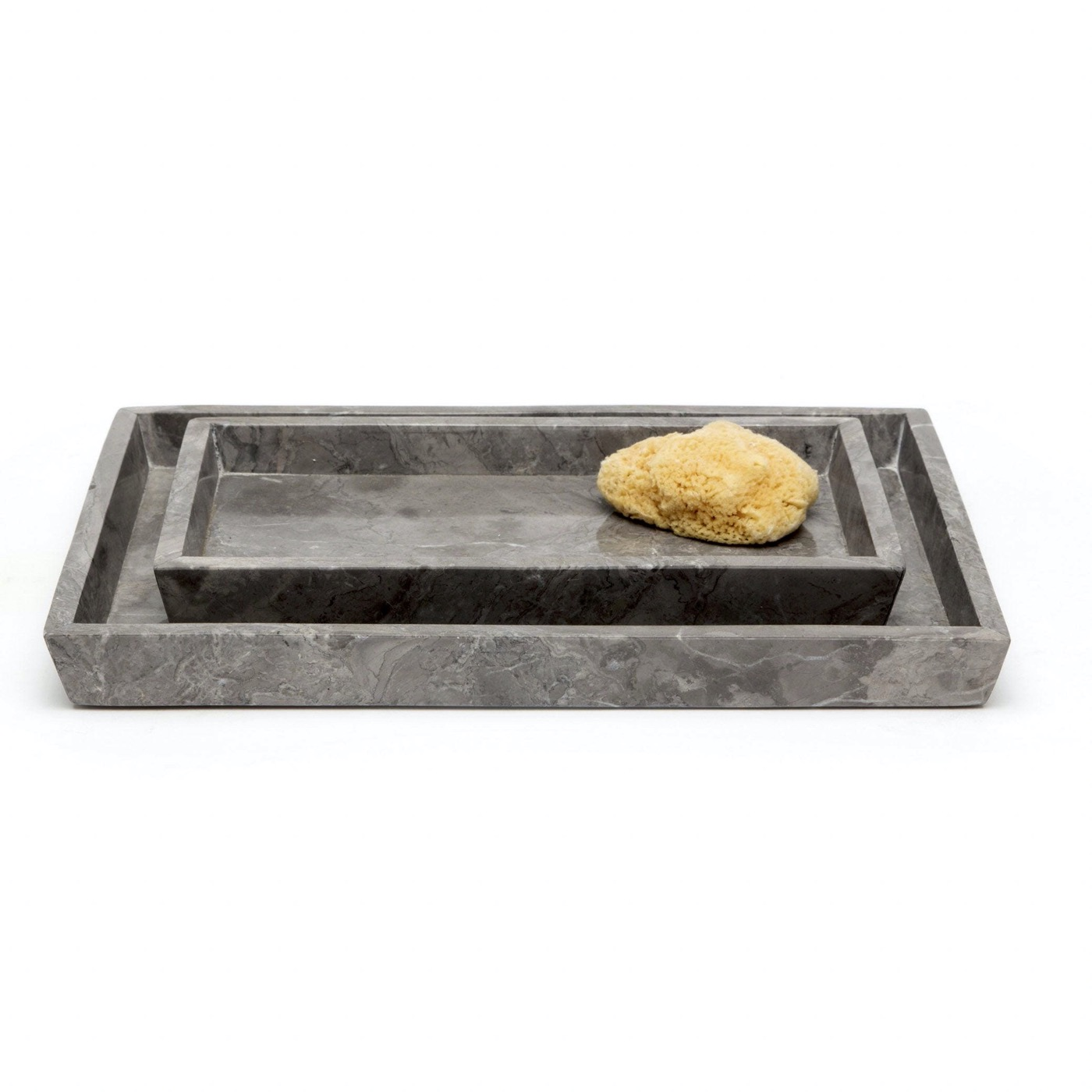 Zurich Stone Trays Set | Grey Marble
