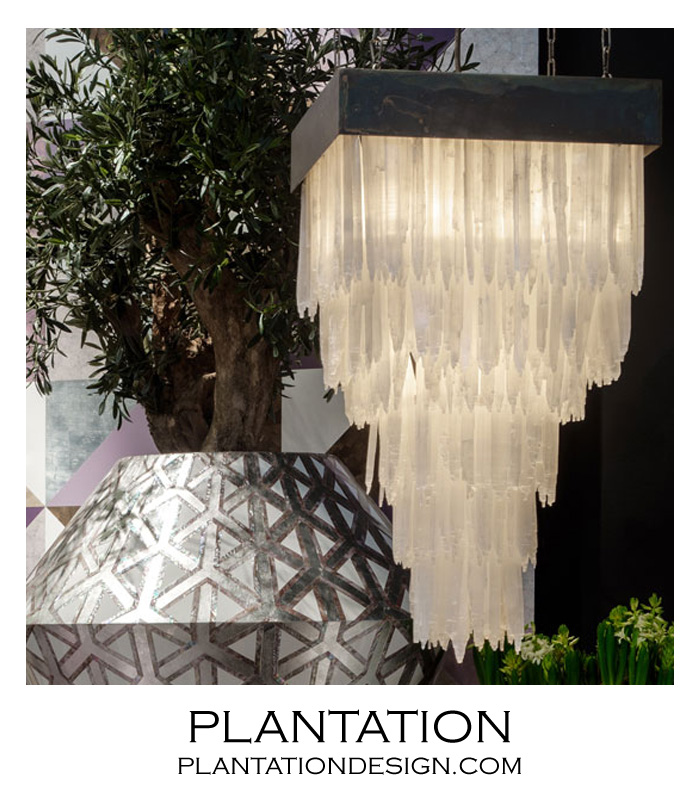 Glacier Selenite Chandelier | Square