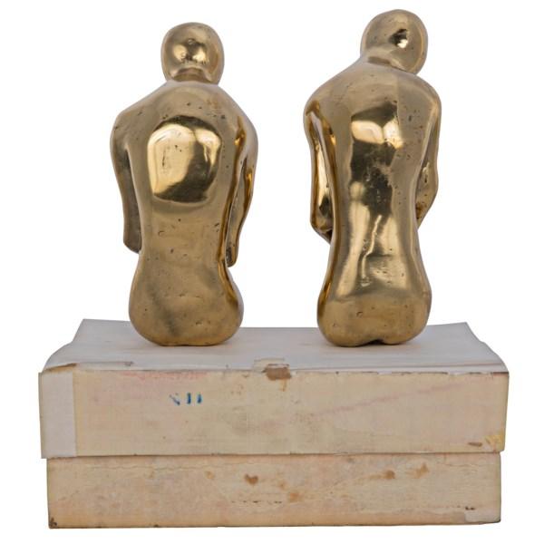 Courtship Brass Sculptures Set | Large