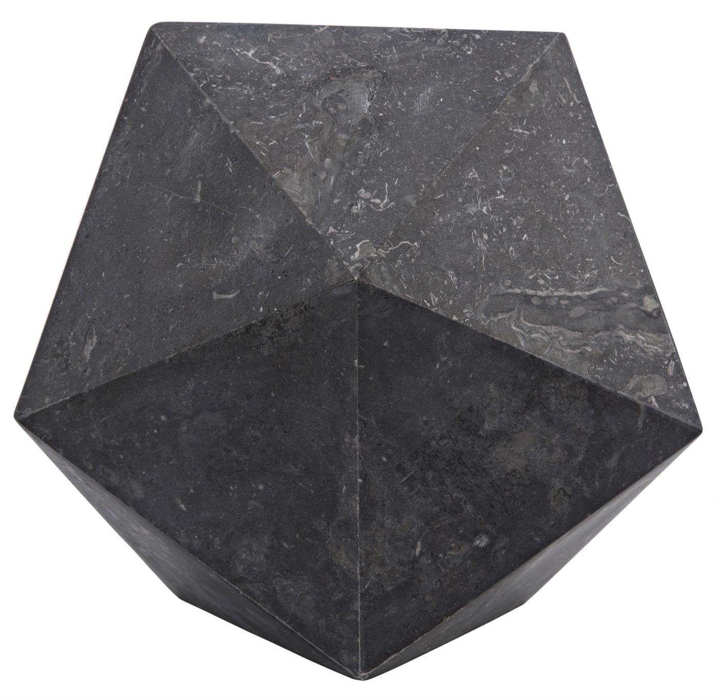 Icosahedron Large Marble Object