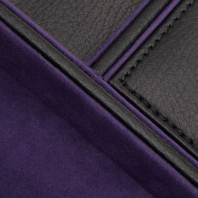 Argus Leather Valet Tray | Black & Purple