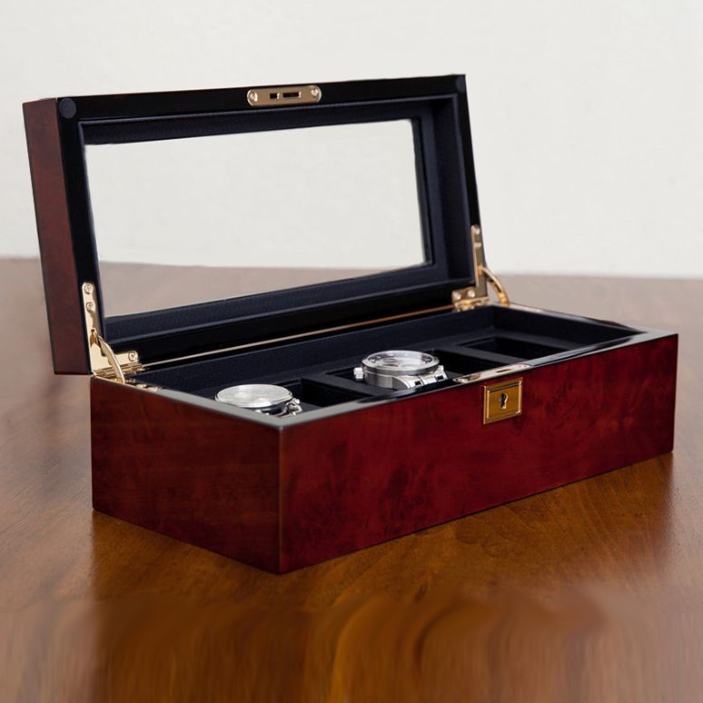 Matteo 5-Watch Box | Burl Wood